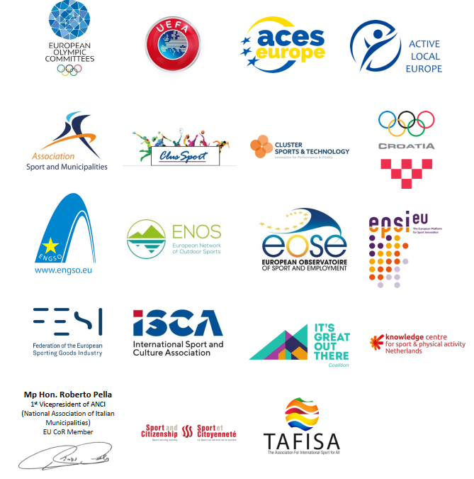 FESI signs a position paper with SHARE stakeholders on the contribution of sport to Europe's recovery process